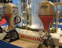 Le stand des moteurs Honda