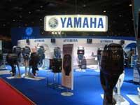 Le stand des moteurs Yamaha