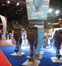 Le stand des moteurs Yamaha : les Yamaha HDPI Injection directe